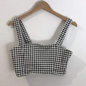 Checkered Bra Top